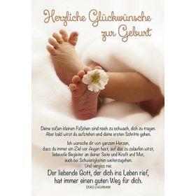 Faltkarte: Herzliche Glückwünsche zur Geburt