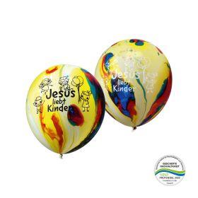 Luftballons - Jesus liebt Kinder 10er Pack